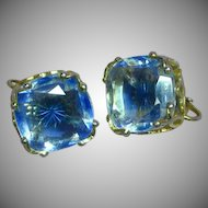 FREE SHIP ALL ITEMS Emmons Signed Designer Large Rhinestones Elegant Vintage Spring Clip Earrings
