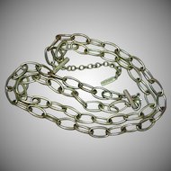 Napier Signed Designer Large Links Chain Double Strand Necklace