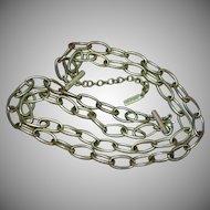 Napier Signed Designer Large Links Chain Double Strand Necklace