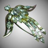 Coro Craft Signed Designer Abstract Angel Brooch Pin circa 1950.