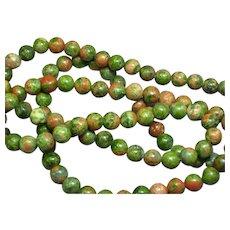 Gorgeous Unakite Bead Necklace
