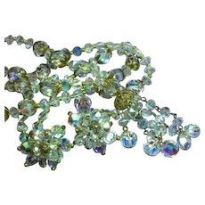 Swarovski Spectacular Crystal Long Sautoir Necklace Earrings Set