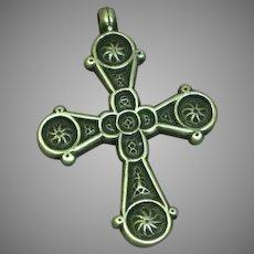 Metropolitan Museum of Art Signed Ornate Cross Necklace Pendant