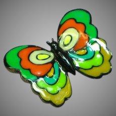 Eisenberg Signed Enamel Butterfly Figural Vintage Estate Pin Brooch