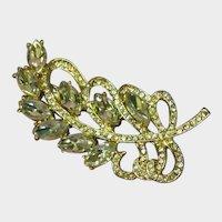 Gorgeous Rhinestones Leaf Pin Brooch