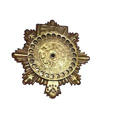 1937 Brass De-coder or Code Pin Brooch Badge
