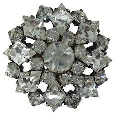 Rhinestone Dimensional Star Brooch Pin