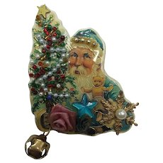 Creations by Francis Signed Hand Crafted Christmas Card Pin Brooch