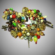 OUT of AFRICA Trade Beads and Vintage Jewelry Pieces, Jungle Charm Bracelet