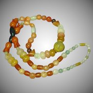 """Jade Mix Beads Incredible Multi Color Mix Sizes 26"""" Necklace"""