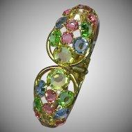 Juliana D&E Pastel Rhinestones Clamper Bracelet