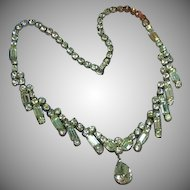 Kramer Diamond Look Rhinestones Estate Necklace