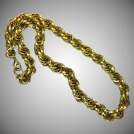 Chunky Antiqued Goldtone  Multiple Links Chain Layered Textured Necklace