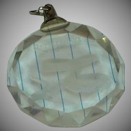 Rattle Snake Hologram Inside Large Crystal Pendant