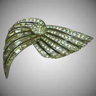 Marcel Boucher Adjustable Movable! Circa late 30's Rhinestone Rhodium Plated Brooch Pin