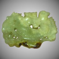 Jade,Hand Carved Jadeite Bird Fish Rat Pendant