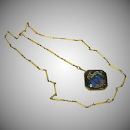 Butterfly Wing 9 ct Yellow Gold Link Chain with 9 ct Morpho Wing Pendant Necklace