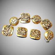 Copper Wonderful Bracelet Earrings Set Demi Parure