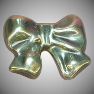50% OFF SALE!!  De Los Ballesteros Marked Gorgeous ! Sterling Silver Bow Brooch Pin Pendant.