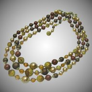 Beads Japan Scrumptious!! Golden Amber Pearlized Sugar Beads  Necklace