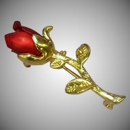 50% OFF SALE Red Iodized Eternal Rose Brooch Pin