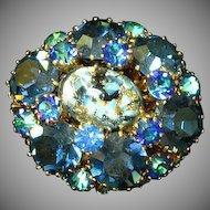 Austria Rhinestones, Art Glass, High Quality Pin, Brooch
