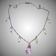 Briolettes, Victorian Era, Crystal, Sterling Silver, Necklace