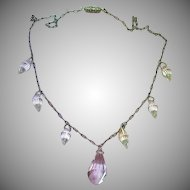 Briolettes, Victorian Era, Crystal, Sterling Silver, Necklace