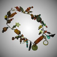 Primitive Trade Beads Ethnic Tribal Museum Quality Treasure Charm Necklace