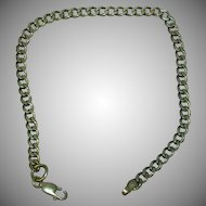 Milor Italy Sterling Silver Curb Link Chain Bracelet