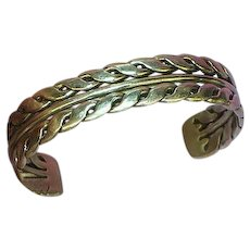 Jay Strongwater Stainless Steel Cuff Bracelet.