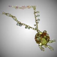 Outstanding Austrian Crystal Crystal Beads Rhinestones Montees Faux Pearl Necklace