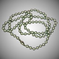 Monet Lustrous Silver-Grey Faux Pearl Knotted Necklace
