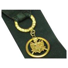 Magnificent Antique Victorian Knights of Pythias Pocket Watch Chain Watch Fob