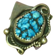 Native American Indian Turquoise Sterling Silver Ring