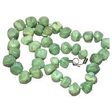 Amazonite Large Chunky Polished Natural Stone Necklace