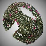 Seed Bead  Wire Cuff Bracelet