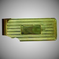 Money Clip Mens Circa 1950 Crafted in Bright Gold Plate