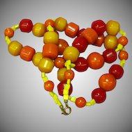 Flamboyant All Bakelite Bold Bead Necklace