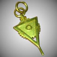 Fraternity / Sorority  10k Yellow Gold Key Fob ASU 1978