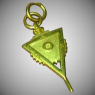 Fraternity / Sorority  10k Yellow Gold Key Fob ASU 1978