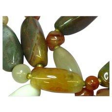 Gemstones Genuine Stone Semi-Precious Stone Polished Scottish Agates Necklace
