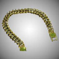 Trifari Marked Trifarium Gold Plate Multi Link Bracelet
