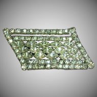 Kramer of New York Signed Sparkling Rhinestones Huge Dazzling Designer Pin Brooch