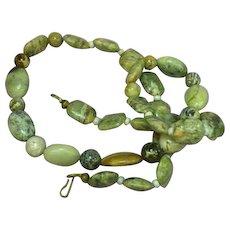 Gemstones Natural Picture Jasper Agate Bead Necklace
