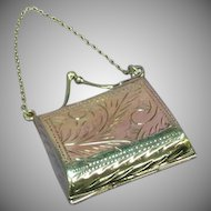 Sterling Silver Mini Purse Chatelaine Secret Locket Pendant