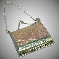 Sterling Silver Mini Purse Chatelaine Secret Locket Pendant