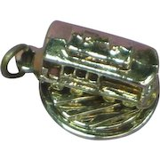 San Francisco Marked Moving Sterling Silver Cable Car Charm circa 1960's