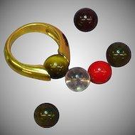 Avon Interchangeable Colored Stone Bead Ring