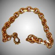 Copper Heavy Link Chain Bracelet
